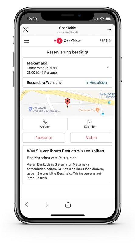 OpenTable-Buchungen über Instagram