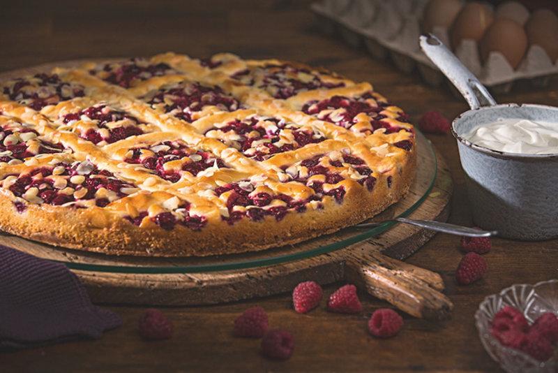 Wie bei Oma: Himbeer-Schmand-Kuchen